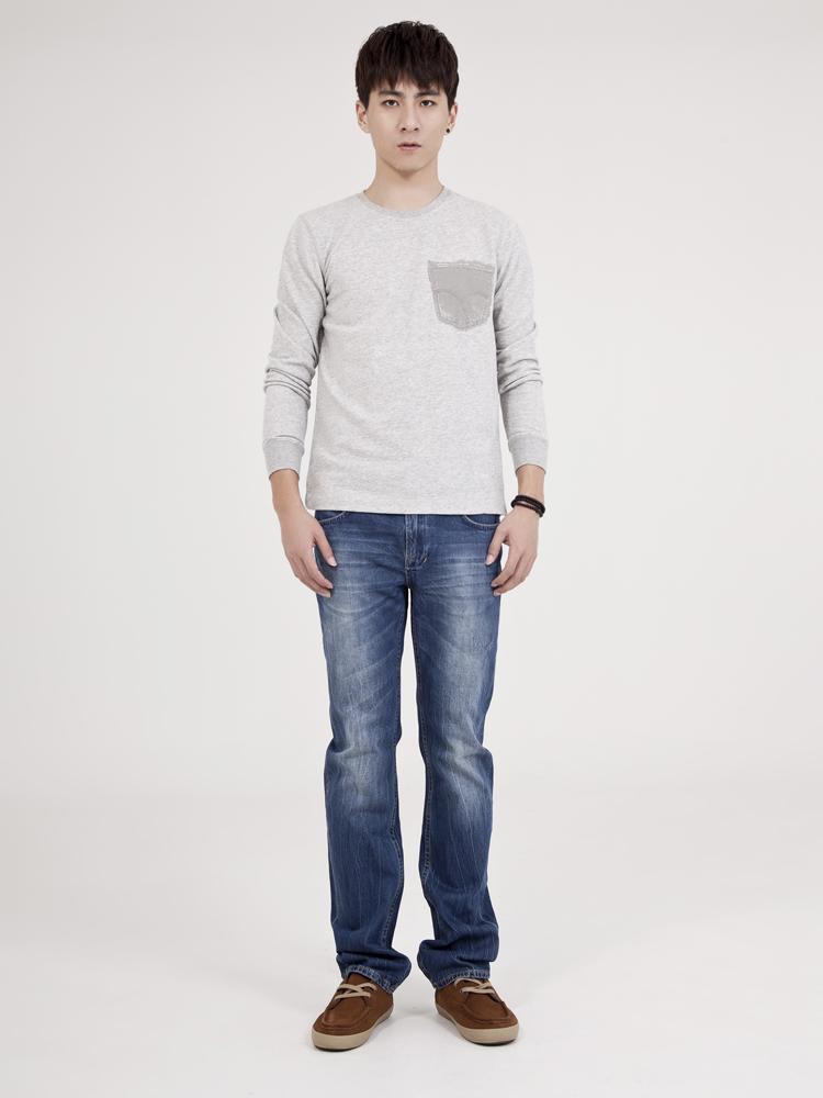 牛仔裤|jasonwood民族花纹袋花牛仔裤正品